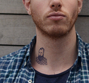 Temporary Tattoo - Bearded Hipster