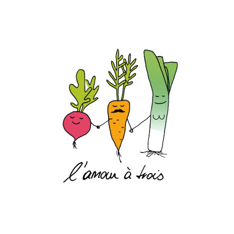 Temporary Tattoo - Veggie Love