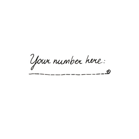 Temporary Tattoo - Your Number Here