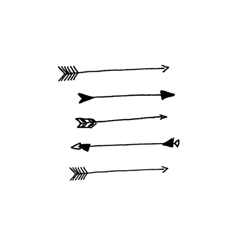 Arrows - Young & Smitten ~ temporary tattoos