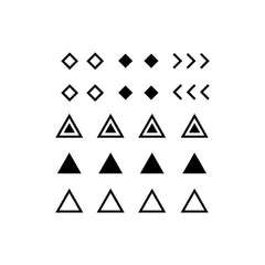 Temporary Tattoo - Micro Geometric Shapes