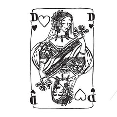 Temporary Tattoo - Queen of hearts