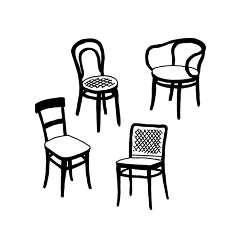 Temporary Tattoo - Thonet Chairs