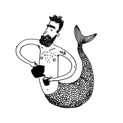 Merman serving Tea