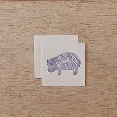 Temporary Tattoo - Hippo Potamus