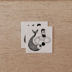 Temporary Tattoo - Merman serving Tea