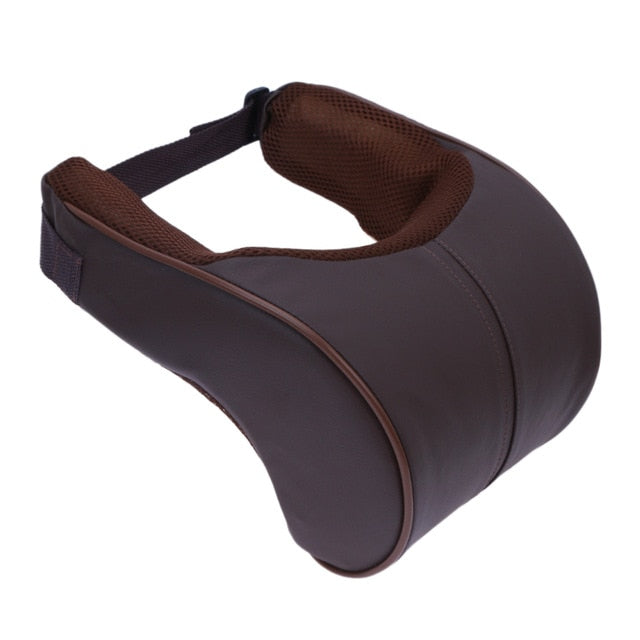 Classy Leather-Memory cotton Neck Pillow