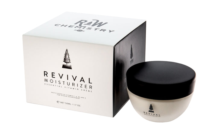 RawChemistry Revival Moisturizer next to box