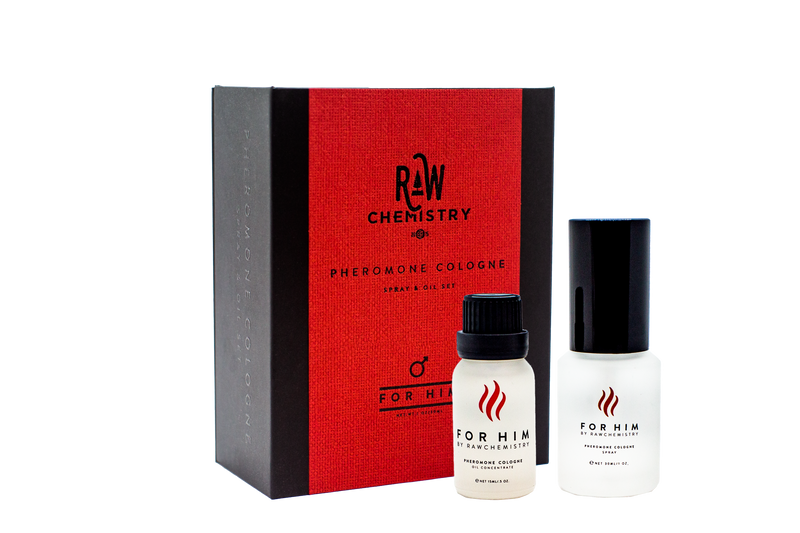 For Him by RawChemistry Men's Pheromone Cologne Gift Set