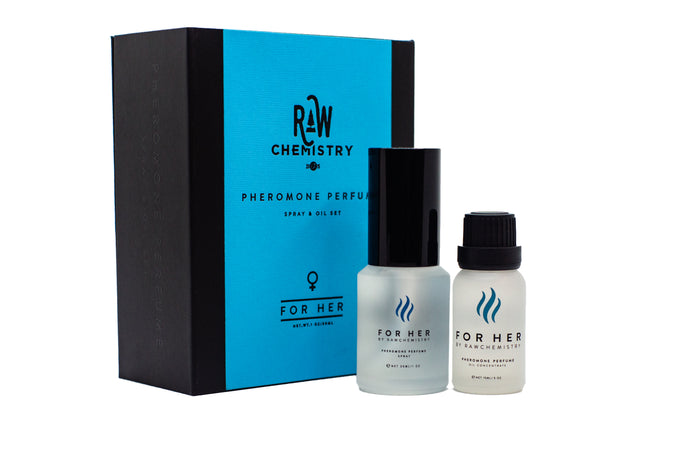 """For Her"" by RawChemistry Pheromone Perfume Gift Set"