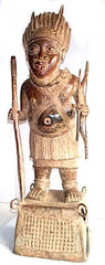 Benin Bronze Dignitary Warrior