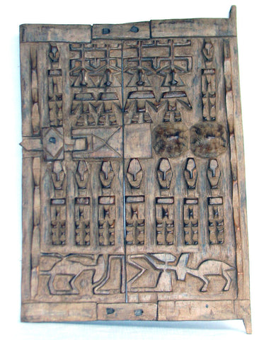 Dogon Granary Door with Ferility Symbols