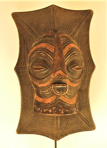 Songye Colorful Plaque with a Mask