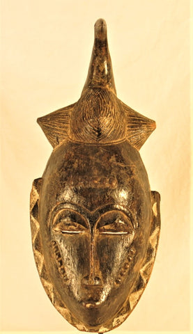 Baule Mblo Mask with a Bird
