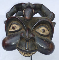 Bamum Ceremonial Mask with Totemic Animal