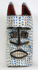 Bozo Mask with Blue Dots