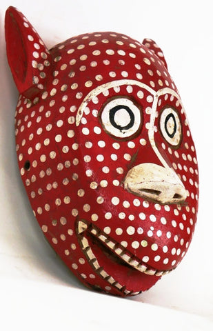 Bozo Red Leopard Mask