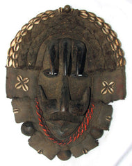 Dan Bagle Mask with Cowries, Horns and Giant Seeds