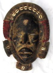 Dan Bagle Mask with Cowries and Red Cloth