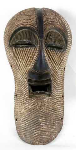Songye Dark Female Kifwebe Mask