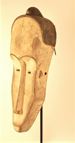 Fang White Ngil Mask with Ears