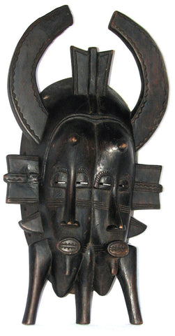 Senufo Kpelie Initiation Double Mask