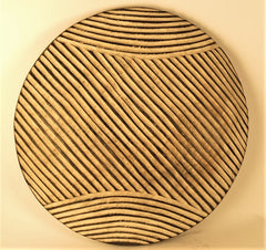Bamileke Round Striped Shield