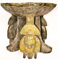 Kota Stool with Three Faces