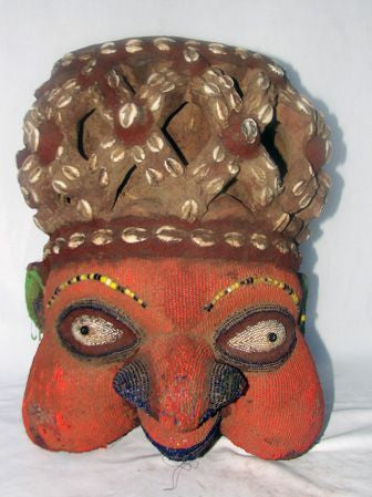 Bamileke Beaded N'KANG Mask