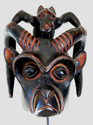 Grassland Mask of Two Mythical Beasts