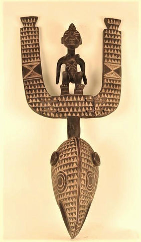Mossi Mask with a Figure