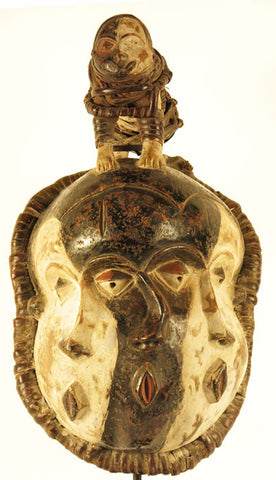 Pende Mask of 3 faces