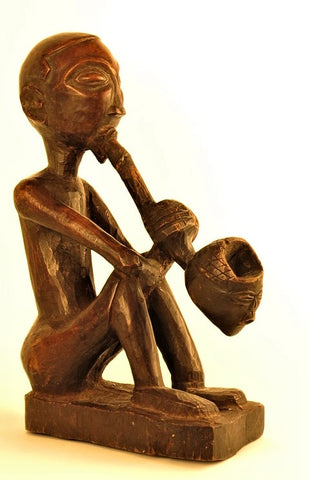 Ancestor smoking  a Pipe