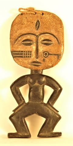 Punu Female Figure with a Key