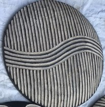 Bamileke Round Shield With  Wave