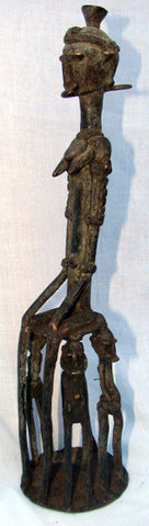 West African Bronze Seated Female