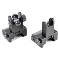 AT3™ Flip-Up Spring-Assisted Backup Iron Sights - Front & Rear Set - Same Plane