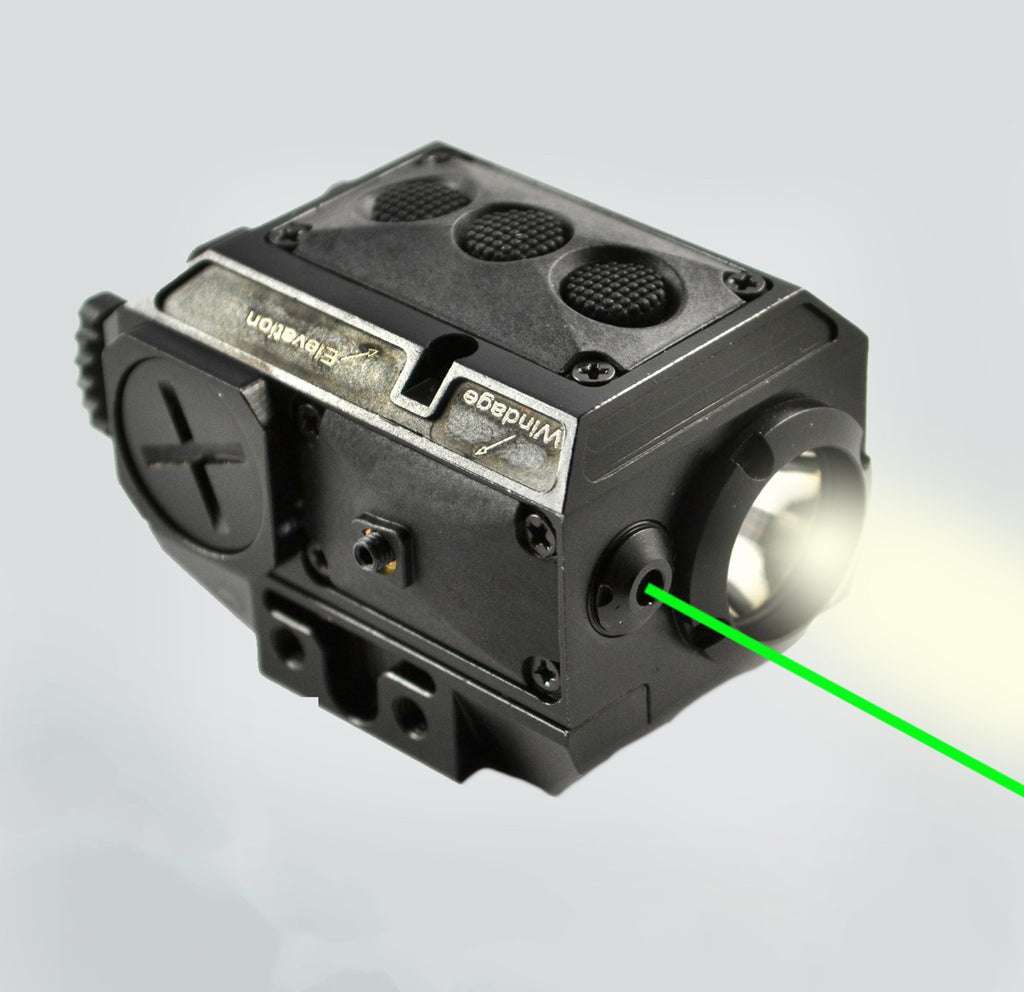 AT3 Tactical Green Laser Light Combo with LED Strobe Flashlight LL-02G