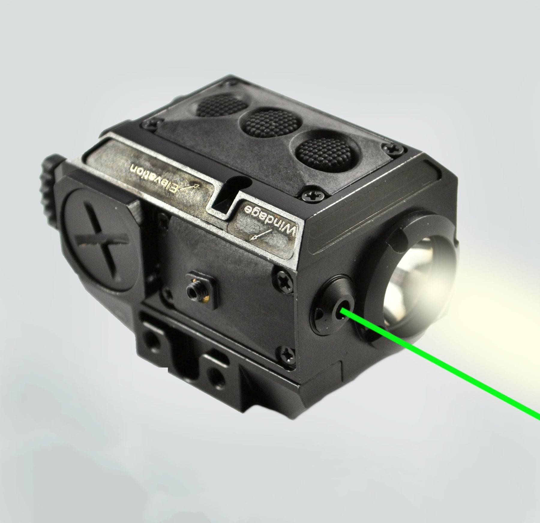 AT3 Tactical Green Laser Light Combo with LED Strobe Flashlight LL ...