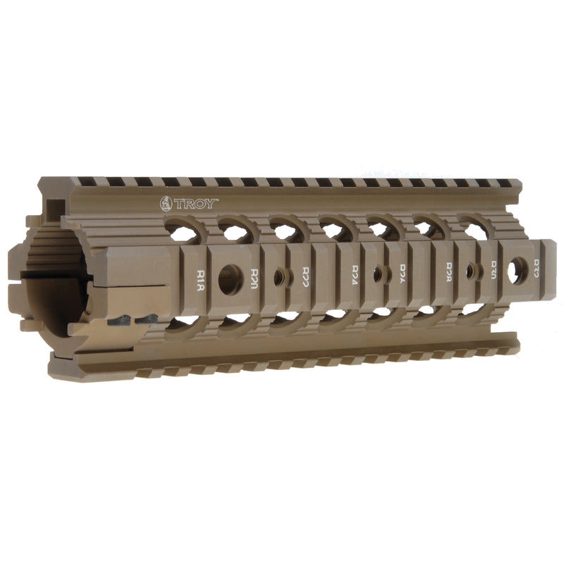 Troy Carbine Length Battle Rail AR-15 Drop-In Quad Rail