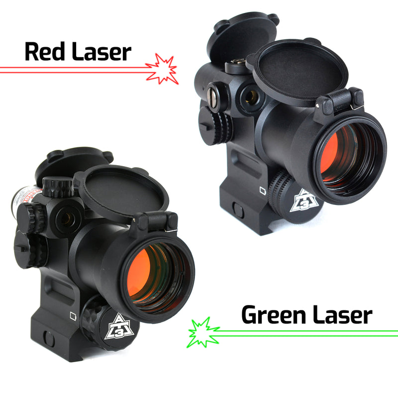 AT3 LEOS™ Red Dot Sight with Integrated Laser Sight & Riser