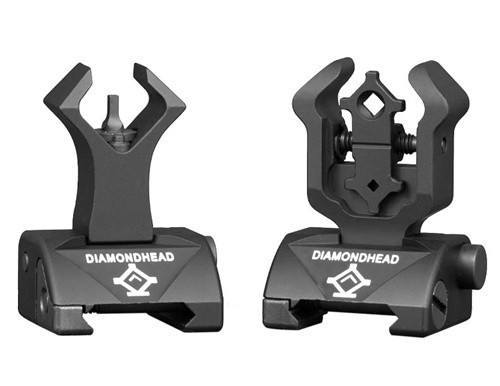 Backup Iron Sights - Diamondhead - Front & Gen2 Rear Sight Set - Folding - Same-Plane Height - 1199