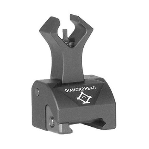 Backup Iron Sights - Diamondhead Front Sight - Folding - Gas Block Height - AR15/M4/M16 - 1551