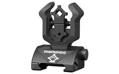 Backup Iron Sights - Diamondhead Rear Sight Gen2 - Folding - AR15/M4/M16 - 1101