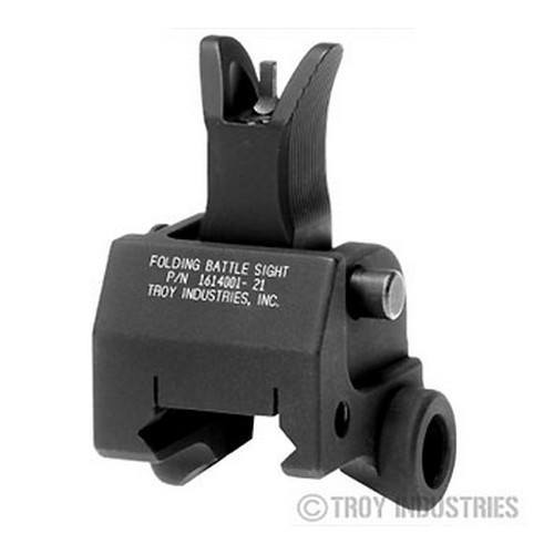 Backup Iron Sights - Troy Front Sight - Folding - Gas Block Height - M4 Style