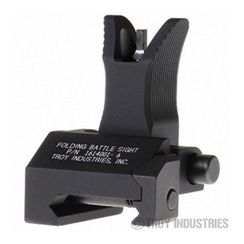 Backup Iron Sights - Troy Front Sight - M4 Style - Folding (Flip-up) - Optional Tritium Illumination