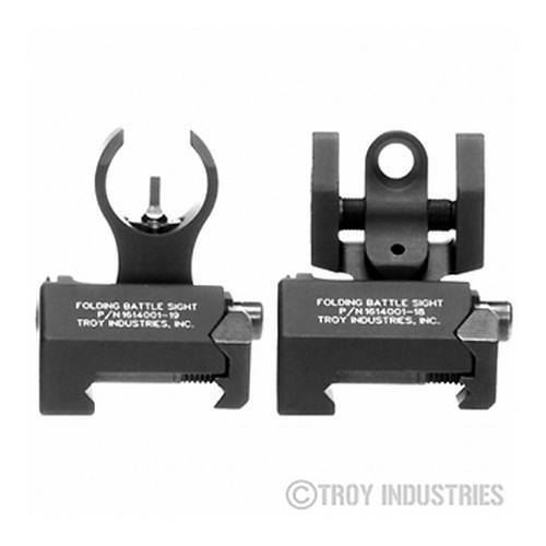 Backup Iron Sights - Troy Micro Sight Set - HK Style - Folding