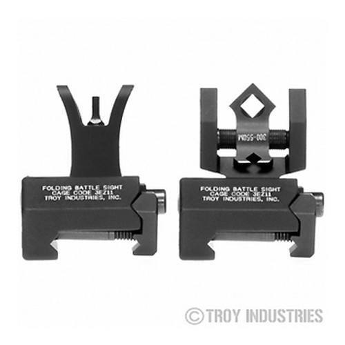 Backup Iron Sights - Troy Micro Sight Set - M4 Style - Folding