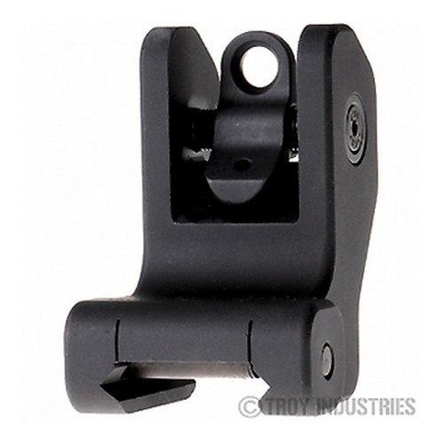 Backup Iron Sights - Troy Rear Battle Sight Black, Fixed