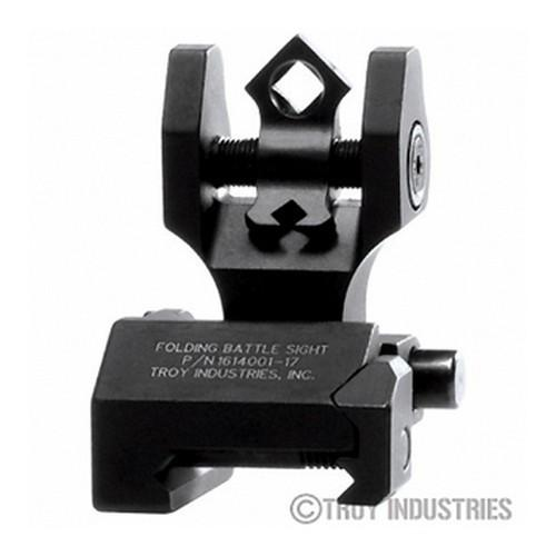Backup Iron Sights - Troy Rear Sight - Folding - Di-Optic Aperture (DOA) - Tritium Illumination-BLACK